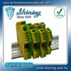TF-G35 Din Rail Mounted 35mm Yellow Green Terminal Strip