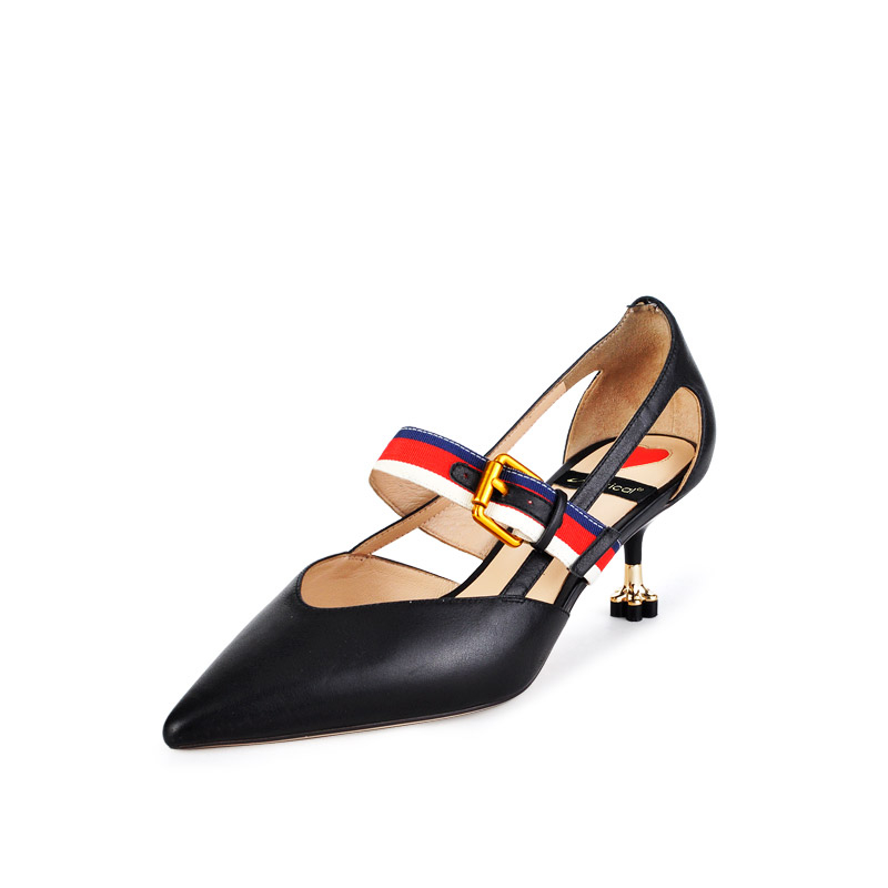 heel lady buckle strap ankle Fancy high pointed design wholesale fashion new leather belt Shoe Dress toe with Pump TnxPqgvUw
