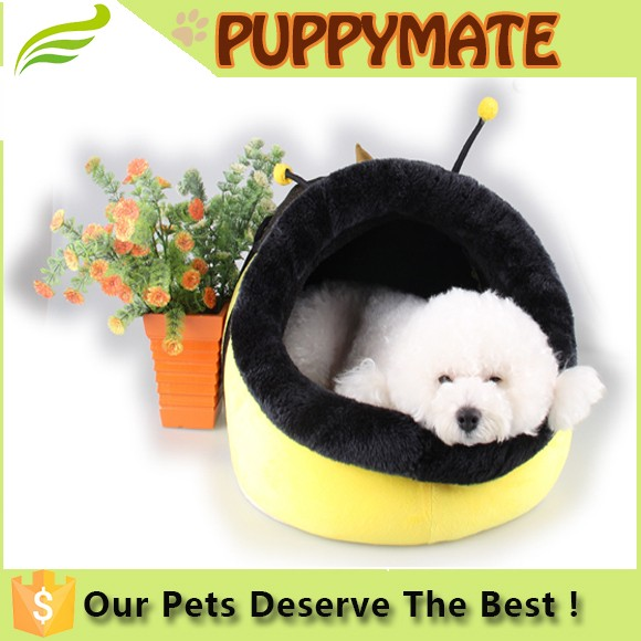 lovely plush animal nest shaped pet bed house, pet house, dog house