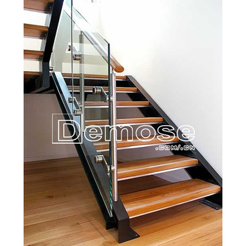 Indoor Loft Ladder Folding Stairs With Acacia Wood Treads