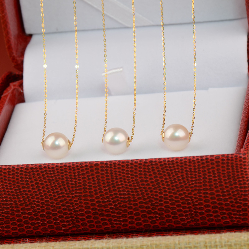 Alibaba Express 18K Gold Freshwater Pearl Jewelry Necklace