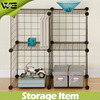 4 cubes mesh storage panels and connector, DIY design free assemble (FH-ALW0016)
