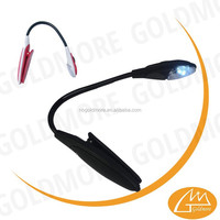 plastic flexible led book light, folding led book lamp with clip, clip book light reading light