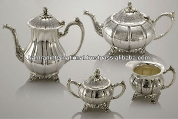 Antique silver tea set silver plated tea set brass silver plated tea set & Antique Silver Tea SetSilver Plated Tea SetBrass Silver Plated Tea ...