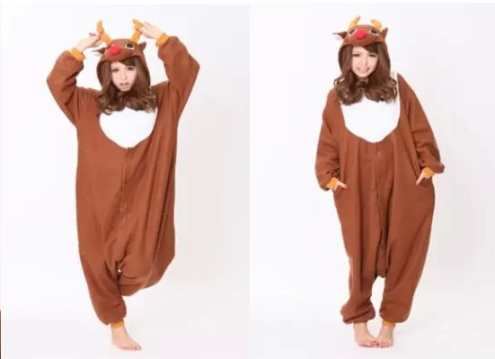 dba695f5841 Get Quotations · New Adult Animal Christmas Deer Men s Sleep   Lounge Pajamas  Onesie Sleepwear PAJAMAS 02