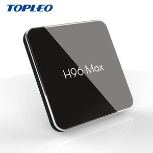H96 MAX X2 custom firmware Amlogic S905X2 android 8 1 tv box 4gb DDR4 ram  32gb rom 64GB optional Real player