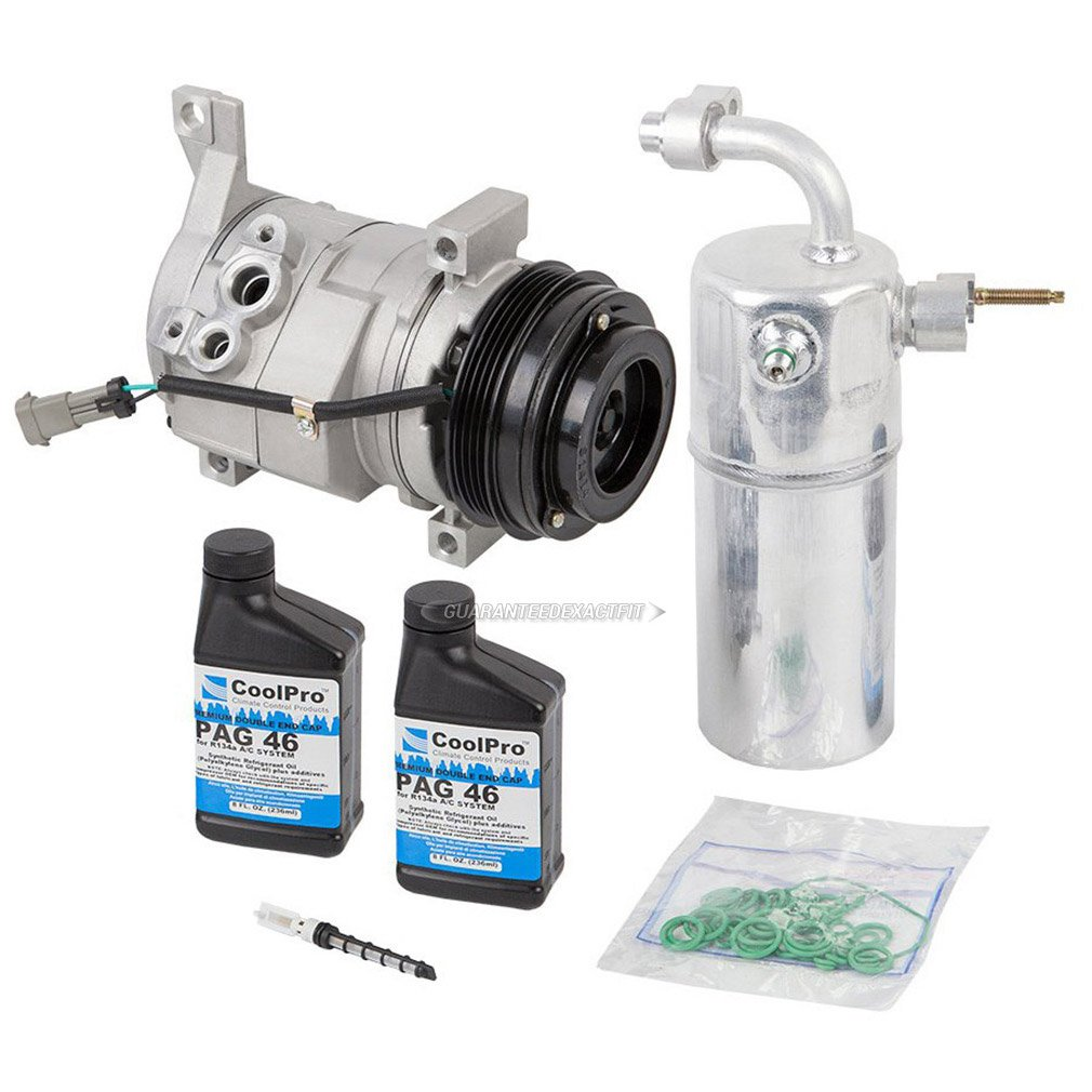 New A/C Compressor & Clutch With Repair Kit For Chevy & GMC w/Rear AC - BuyAutoParts 60-80319RK New