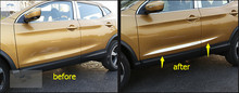 accessories For Nissan Qashqai J11 2014 2015 Stainless Steel Side Door Body Molding Protector Cover Trim