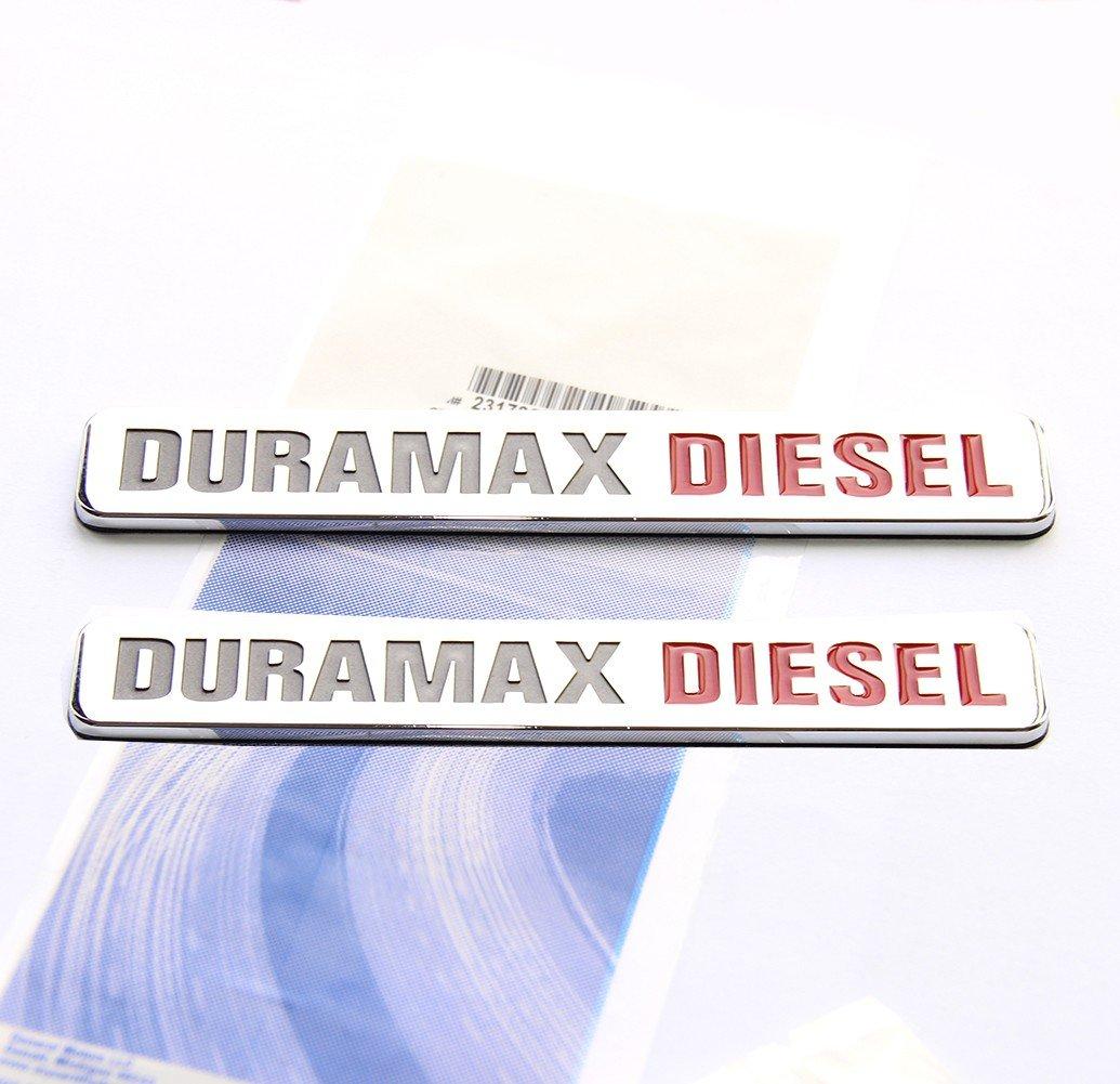 Yoaoo® 2x OEM Duramax Diesel Allison Truck Emblem Badges SILVERADO 2500 3500 HD GMC SIERRA Chrome