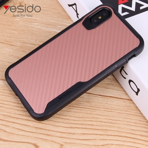 Best praise Two in one soft tpu texture phone cases+for iphone x cases fiber carbon+shock proof for iphone 10 case