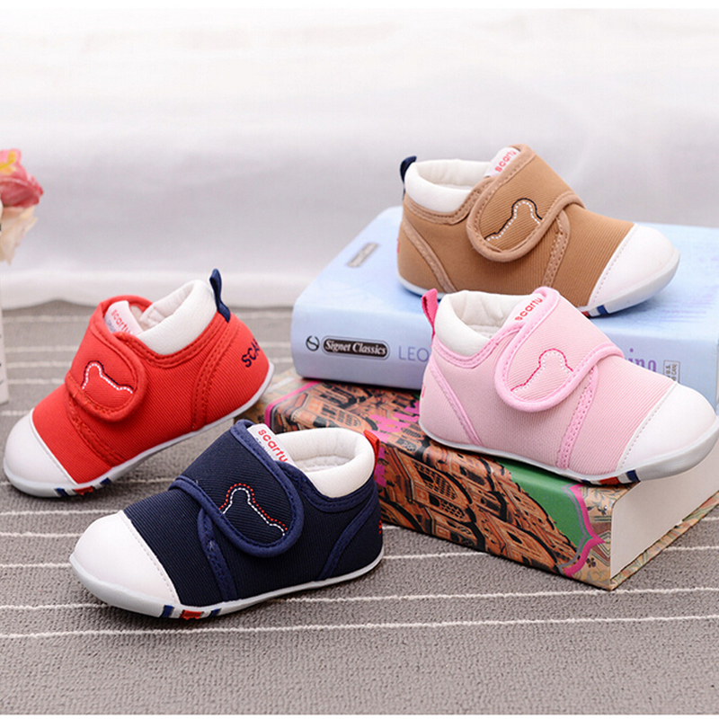 Infant red shoes toddler boys shoes pink first step rubber sole slippers newborn infant pre walker soft shoes shop shoes cheap