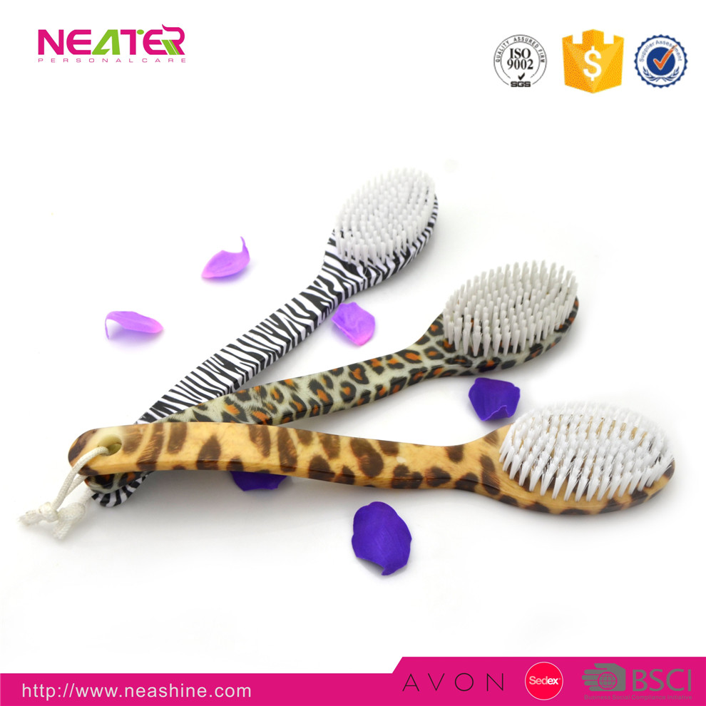 Natural High Quality Plastic Bath Brush For Body Cleaning Bath Brush With Custom Design