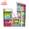 2017 Best gift set luxurious wooden kids doll house with furniture W06A246