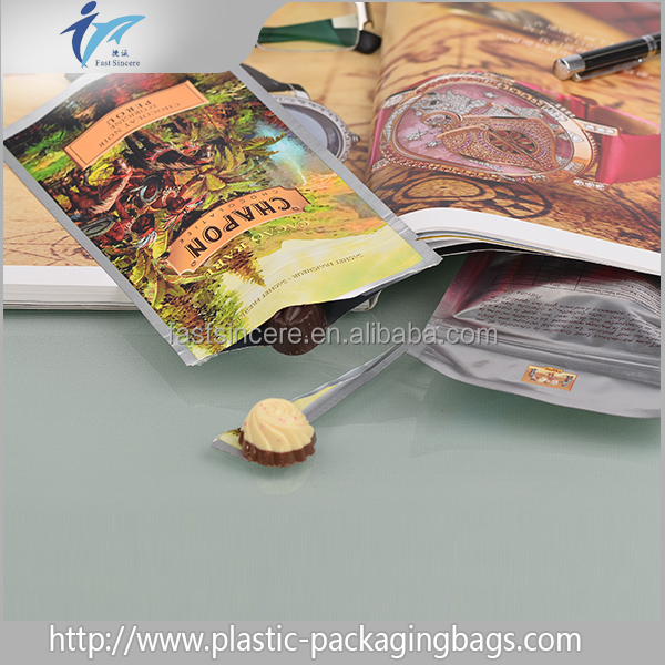 Wholesale plastic zipper pouch with moisture proof and heat sealing and cold saw