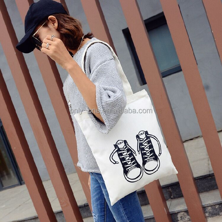 New Fashion Nonwoven Recyclable Plain Cotton Wholesale Tote Shoulder Bag