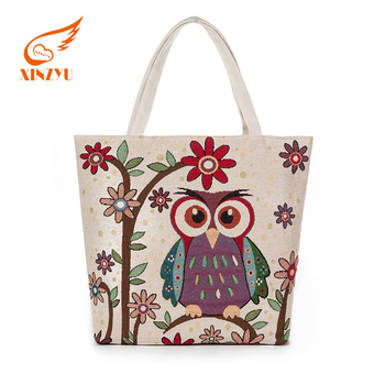 140e436a3855 Wholesale Shopping Beautiful Printing Cotton Cloth Carrying Cloth Bag