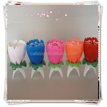 Hot Sale Wholesale Birthday Flower Music Candles Buy