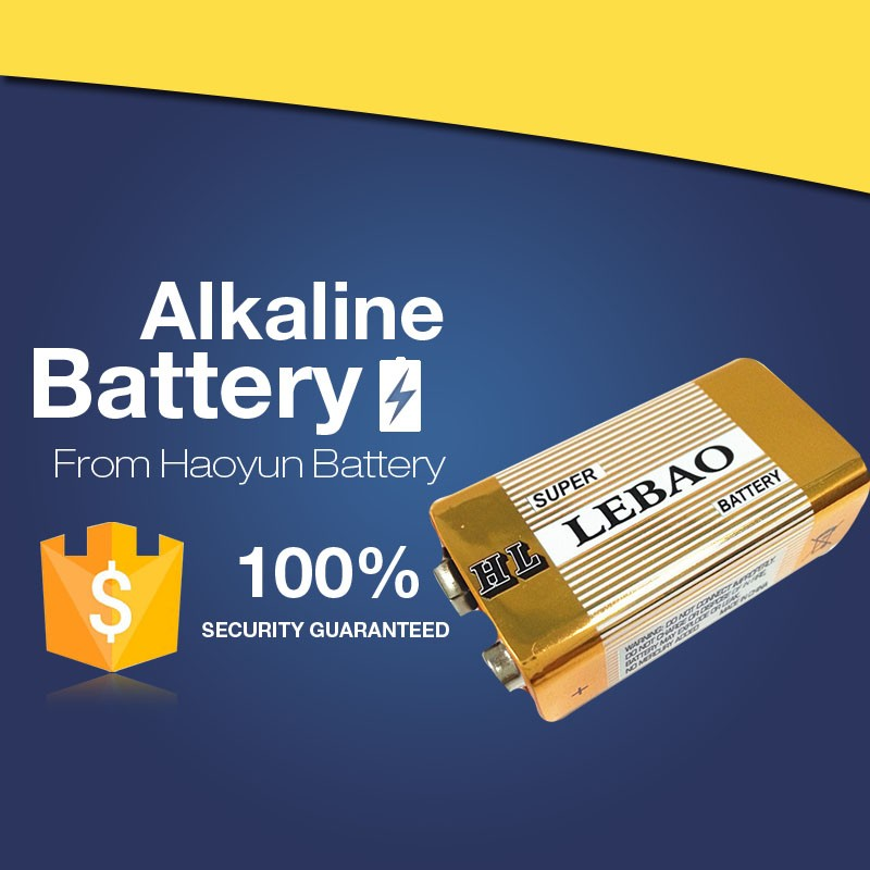 Customed Packing OEM Top Quality Supplies Alkaline Round high capacity industrial 9v battery