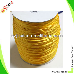 Yellow color Rat Tail Satin Cord,String,Rope