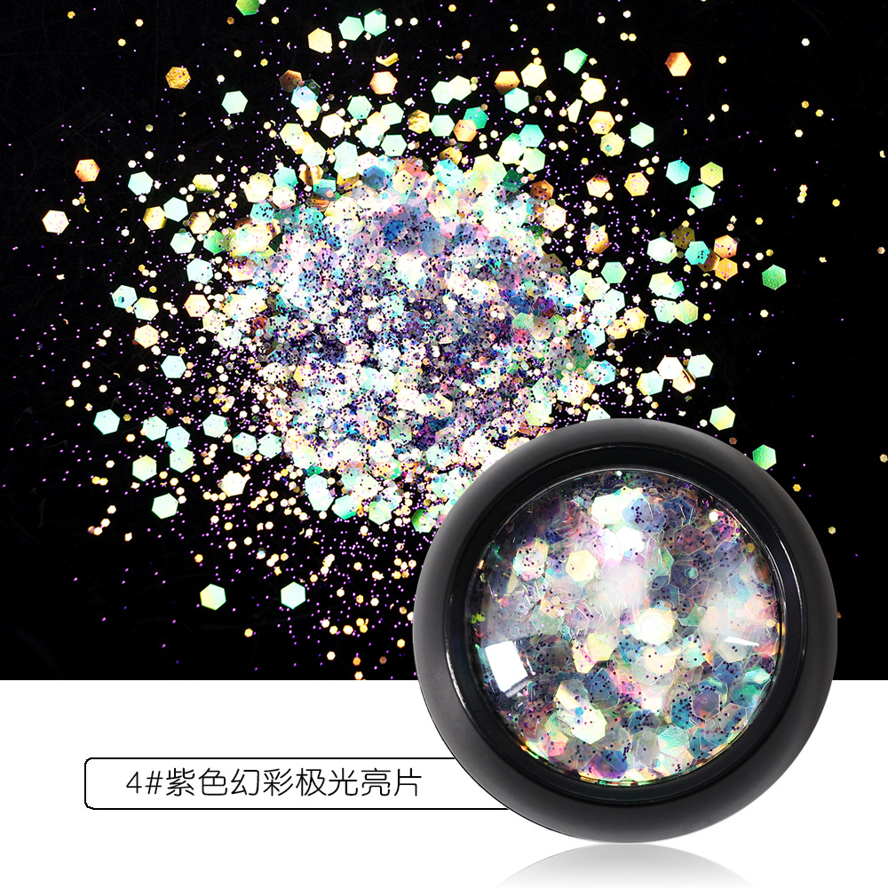 3d full beauty nail glitter powder for DIY flake nail art decorations