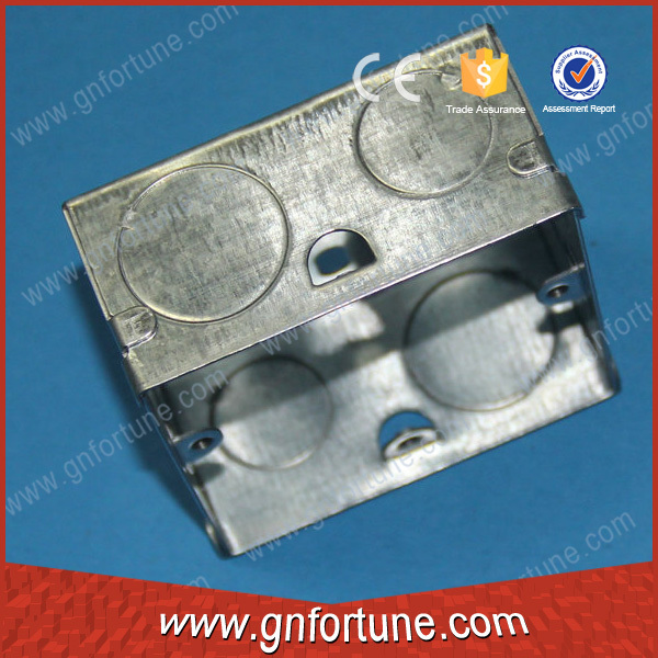 GI steel socket outlet box with 20/25mm knockout