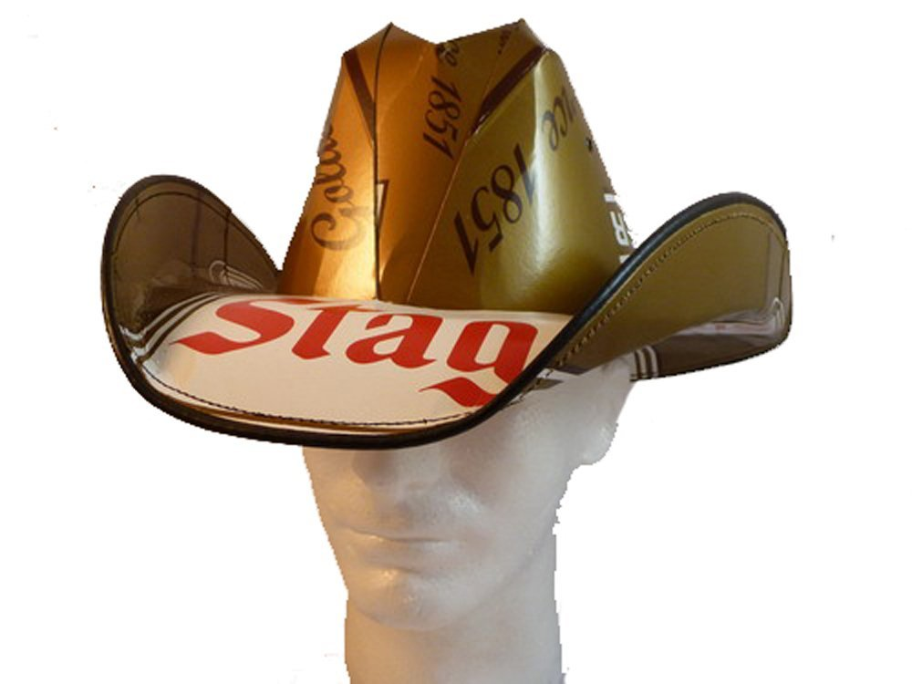 Buy Beer Box Cowboy Hat Made From Recycled Stag Beer Boxes in Cheap ... ff762051b62f