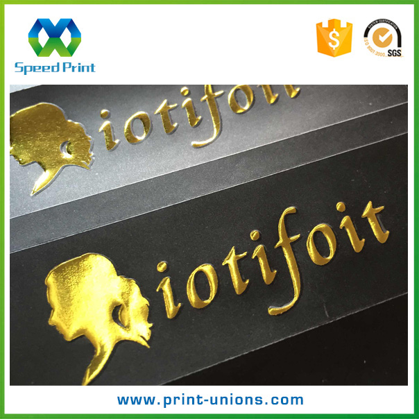 Custom die cut foil stickers gold embossed foil stickers hot sale