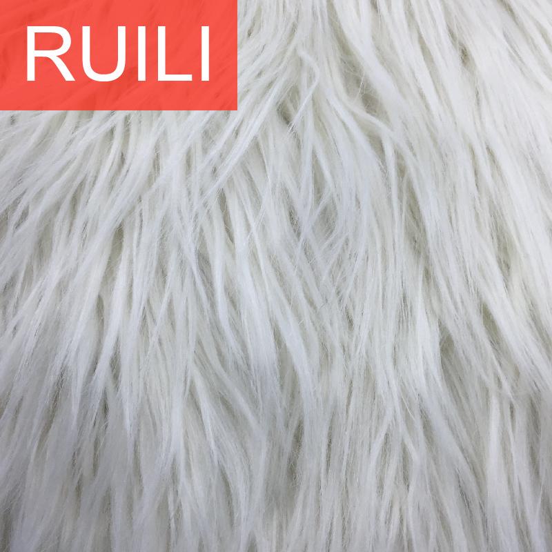 artificial long pile faux fur fabric