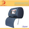 Headrest cover 7 inch games pillow monitor