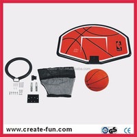 CreateFun Plastic and steel Promotional basketball sets with ball trampoline spare parts