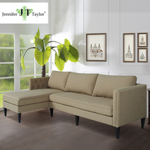 Factory of USA brand furniture durable fabric corner sofa/easy maintenance sectional L-shaped big sofa