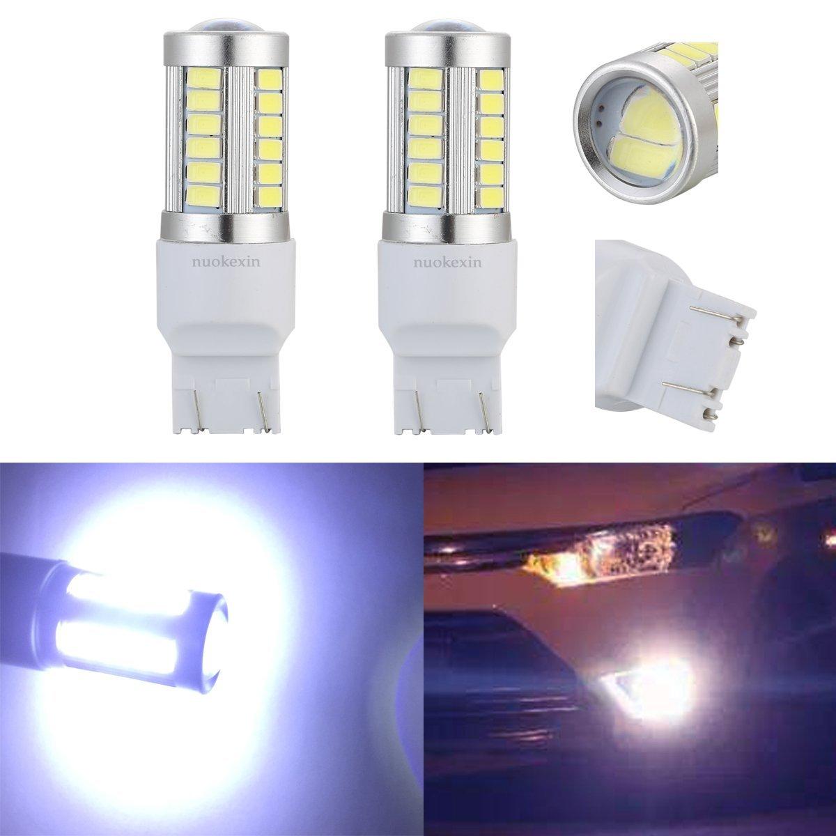 Nuokexin 2Pcs/Lot T20 W21/5W 7443 33 LED 5630 SMD Car Auto Rear Lights Reverse Lights Parking Lights DC 12V