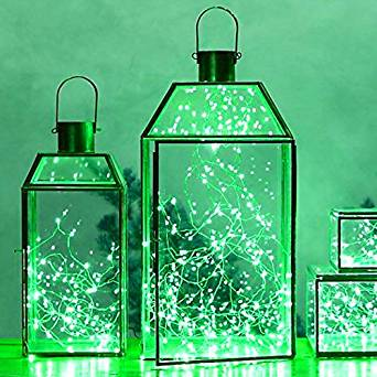 LED SopoTek 7ft 20 LEDS Green Starry Lights Fairy Lights silver LED Lights Strings AA Battery Powered Ultra Thin String Wire(20 Leds Green Battery not included)