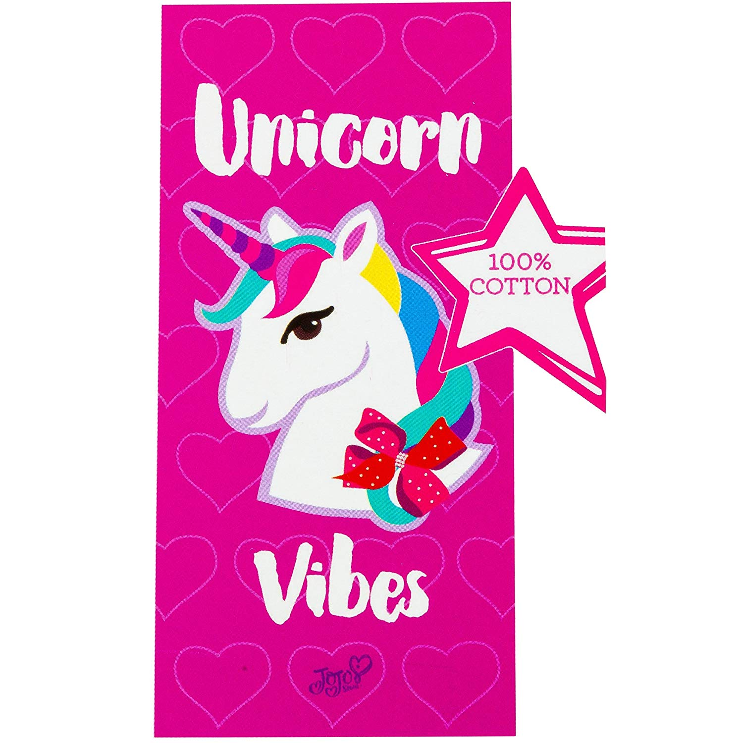 JoJo Siwa Unicorn Vibes Beach Towel 58 X 28 Inches | Summer Beach & Pool Towel 100% Soft Cotton Fabric | Nickelodeon Character Beach Towel (Unicorn)