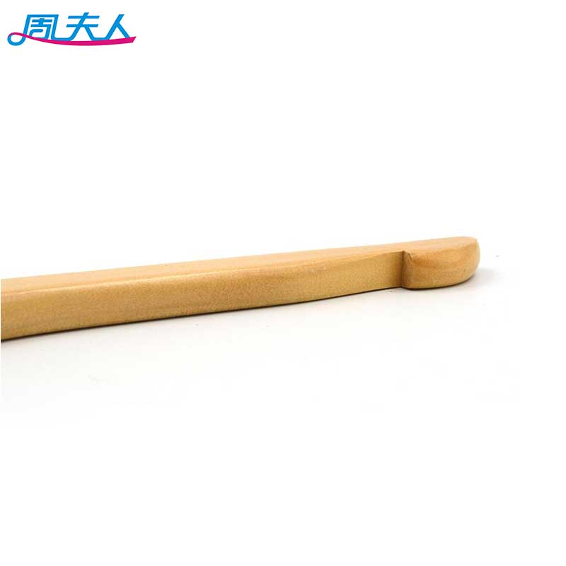 Wholesale a grade wood hangers for clothes P66 flat wooden hanger