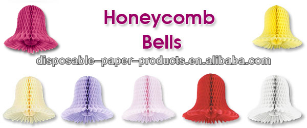 10cm 20cm 30cm 40cm Honeycomb Tissue Paper Wedding Bells for all Seasons and all occasions tissue paper honeycomb bells