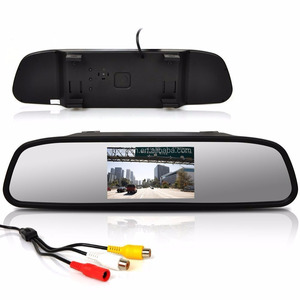 4.3 inch LCD 16:9 TFT Screen Car Vehicle Rearview Mirror Monitor for DVD/VCR/Car Reverse Camera