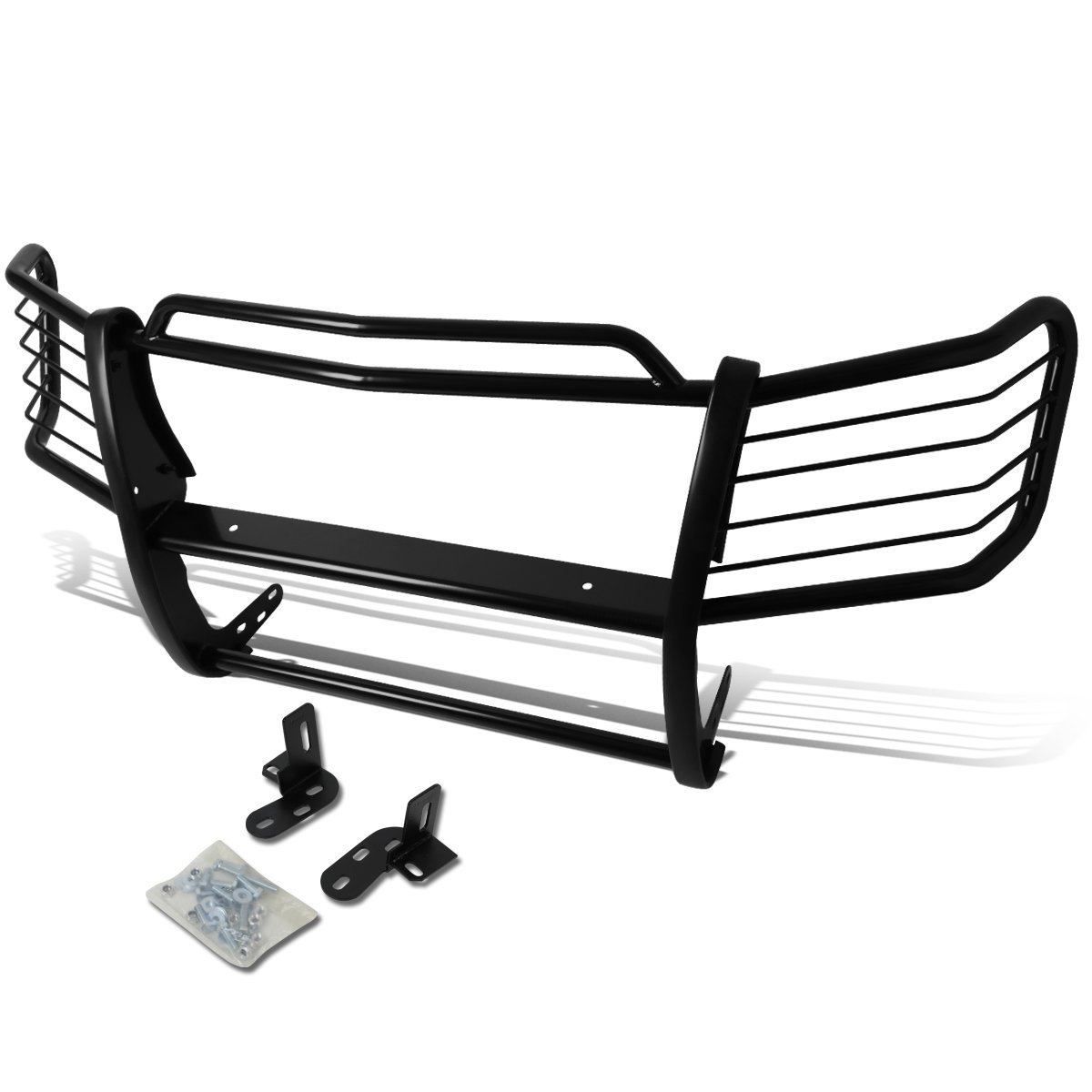 For Chevy Avalanche with Cladding Front Bumper Protector Brush Grille Guard (Black)