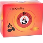 YKS 33mm Sunlight fruitwood fast light shisha coal tablets round coal for shisha
