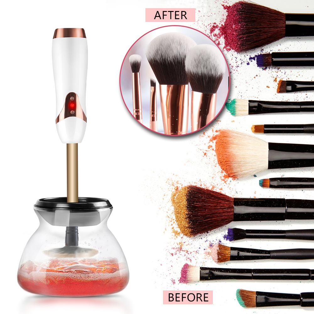 alibaba beauty equipment fashion makeup brushes cleaner have your own brand electric rechargeable make up brush cleaner