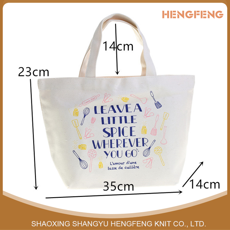 Wholesale factory price Japanese foreign trade canvas bag enviornmental Canvas shopping tote bag