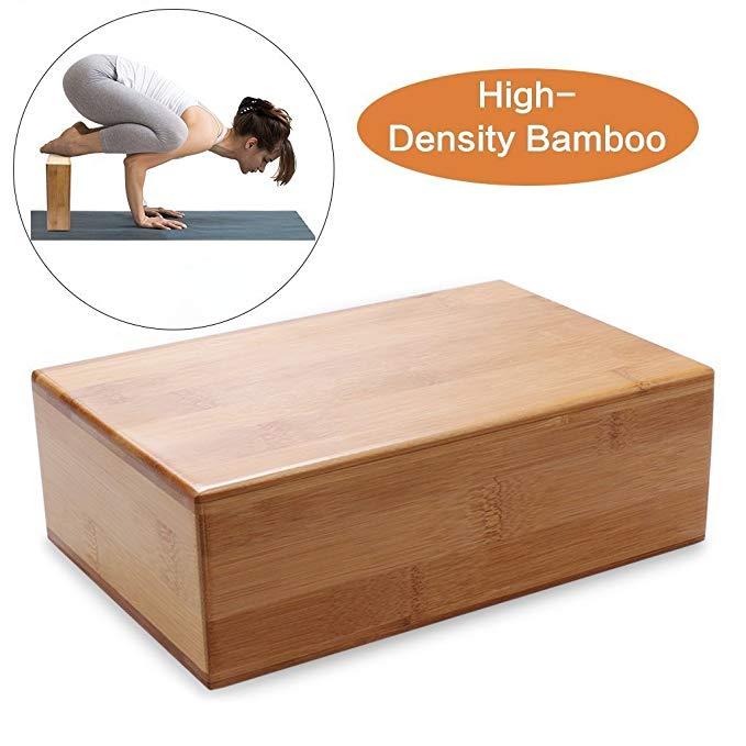 Eco friendly custom wood bamboo yoga block 3