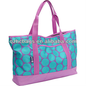 Hot Selling Fashion Waterproof Big Dot Aqua Extra Large Beach Bag ...