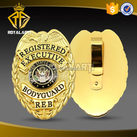Custom Registered USA Gold Plating Metal Insignia