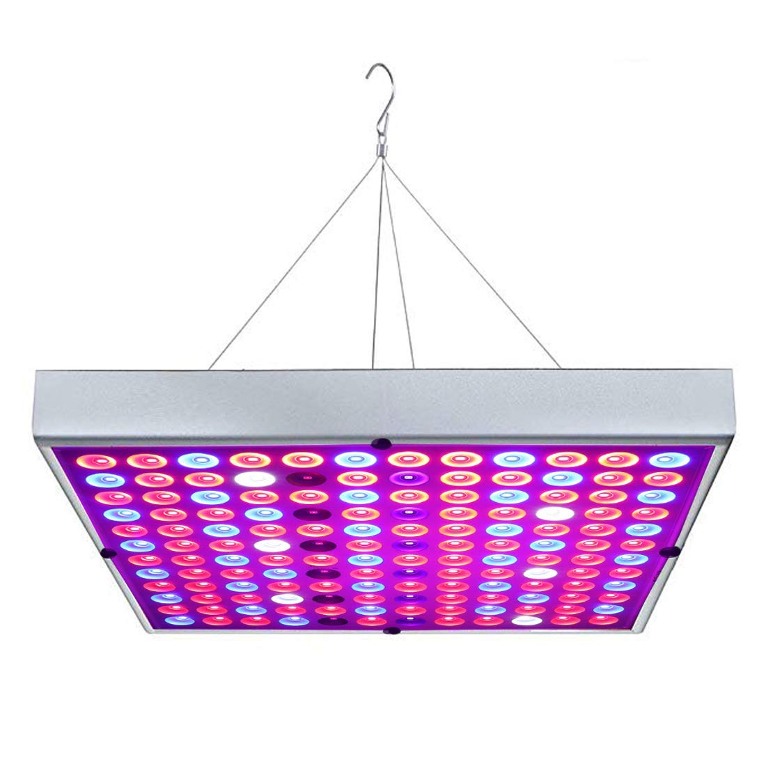 Juhefa LED Grow Light, 45W Panel Grow Lamp Full Spectrum with 6IR & 6UV LEDs for Indoor Plants,Micro Greens,Clones,Succulents,Seedlings,Flowers
