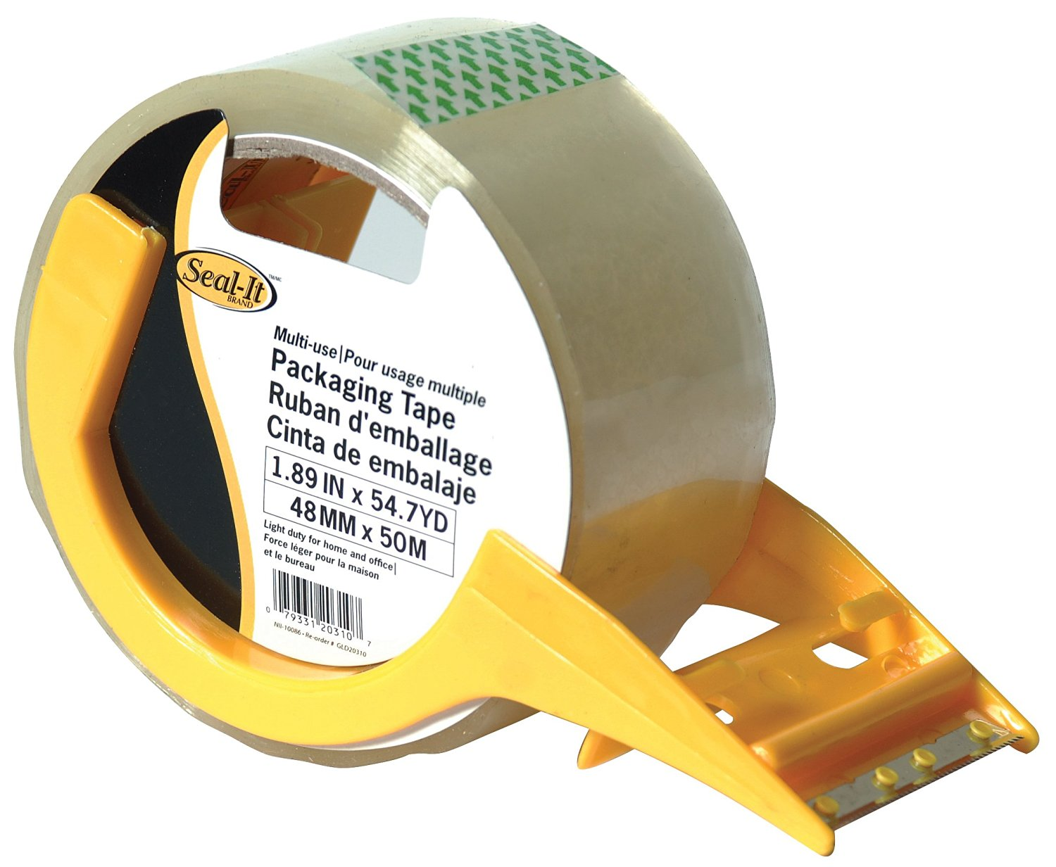 Seal-It 1.88 Inches x 54.7 Yards, Packing Tape, Multi-use, with Dispenser