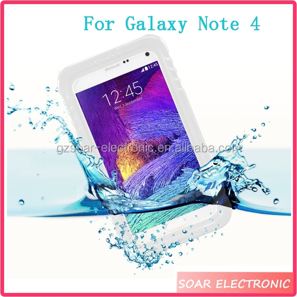 For Galaxy Note 4 Waterproof Case, Heavy Duty Waterproof Protective Cover Case For Samsung Galaxy Note 4