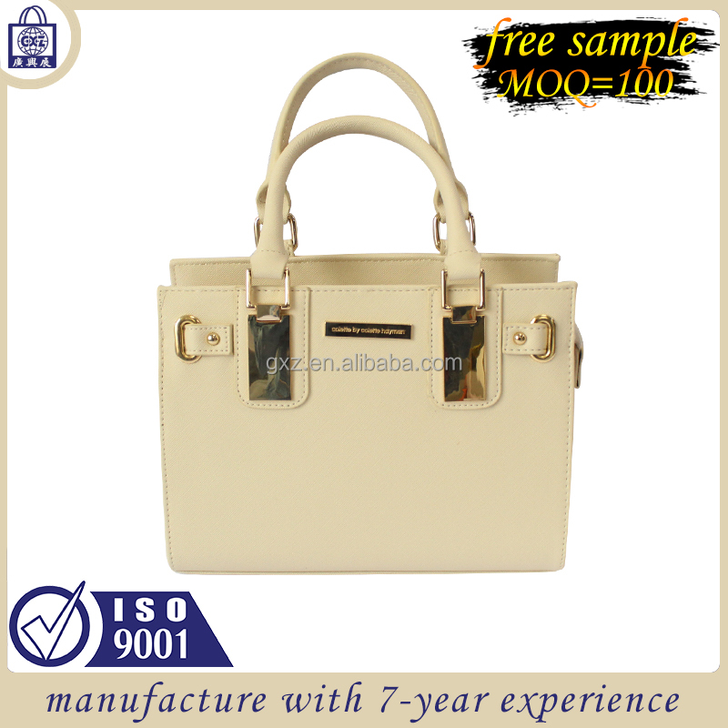 Customized wholesale pu women fashion tote handbags for shopping