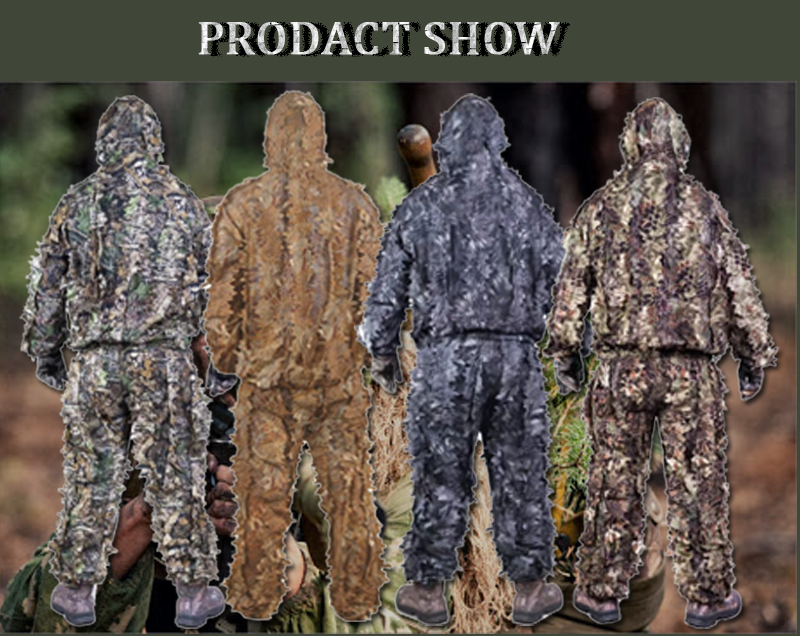 Army Sniper Military Clothes 3D Hunting Blind Camo Suits Ghillie Suits Outdoor camping Nomad Woodland Camouflage Clothing