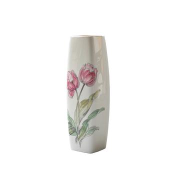 Pembe Lale Seramik çiçek Vazo Boyama Tasarımları Buy çiçek Vazo